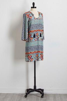 floral crepe woven shift dress