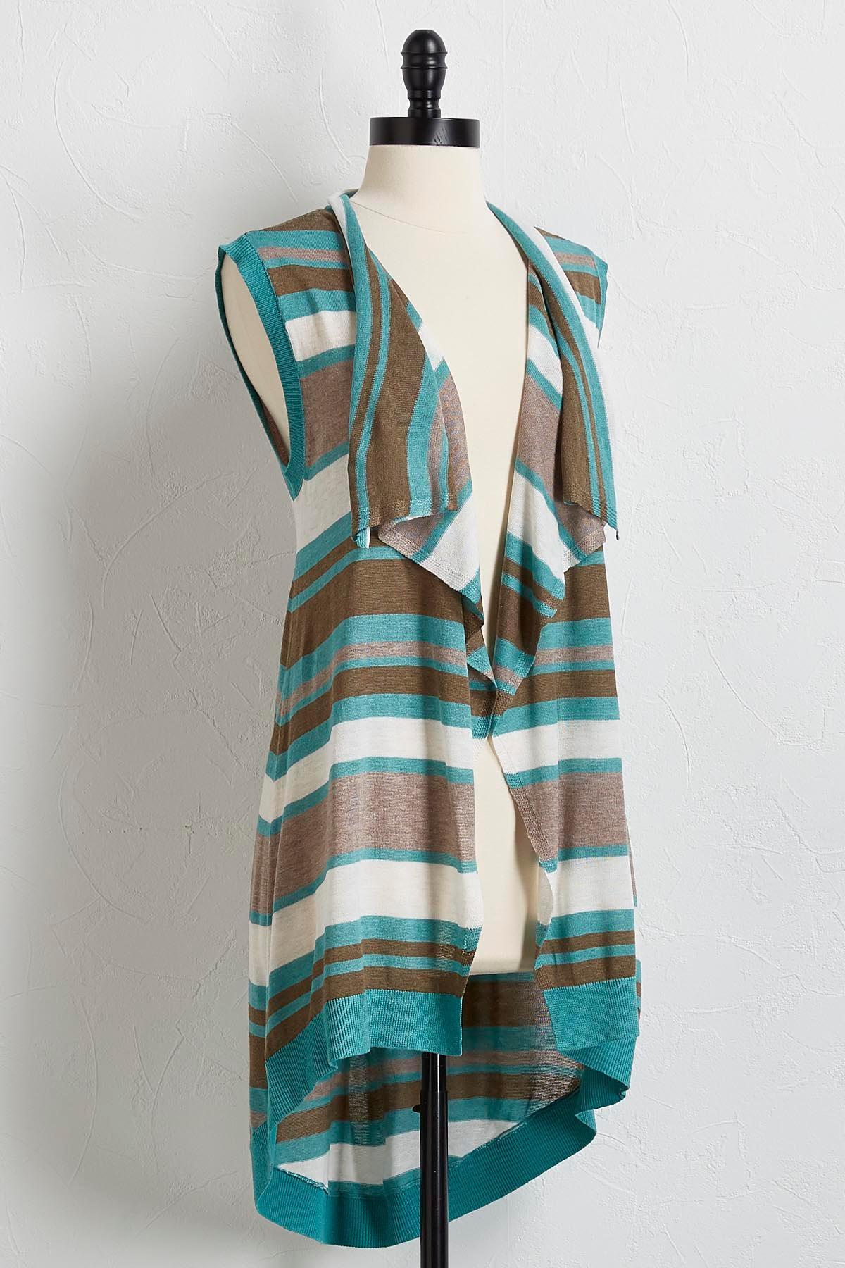 Coastal Striped Sweater Vest