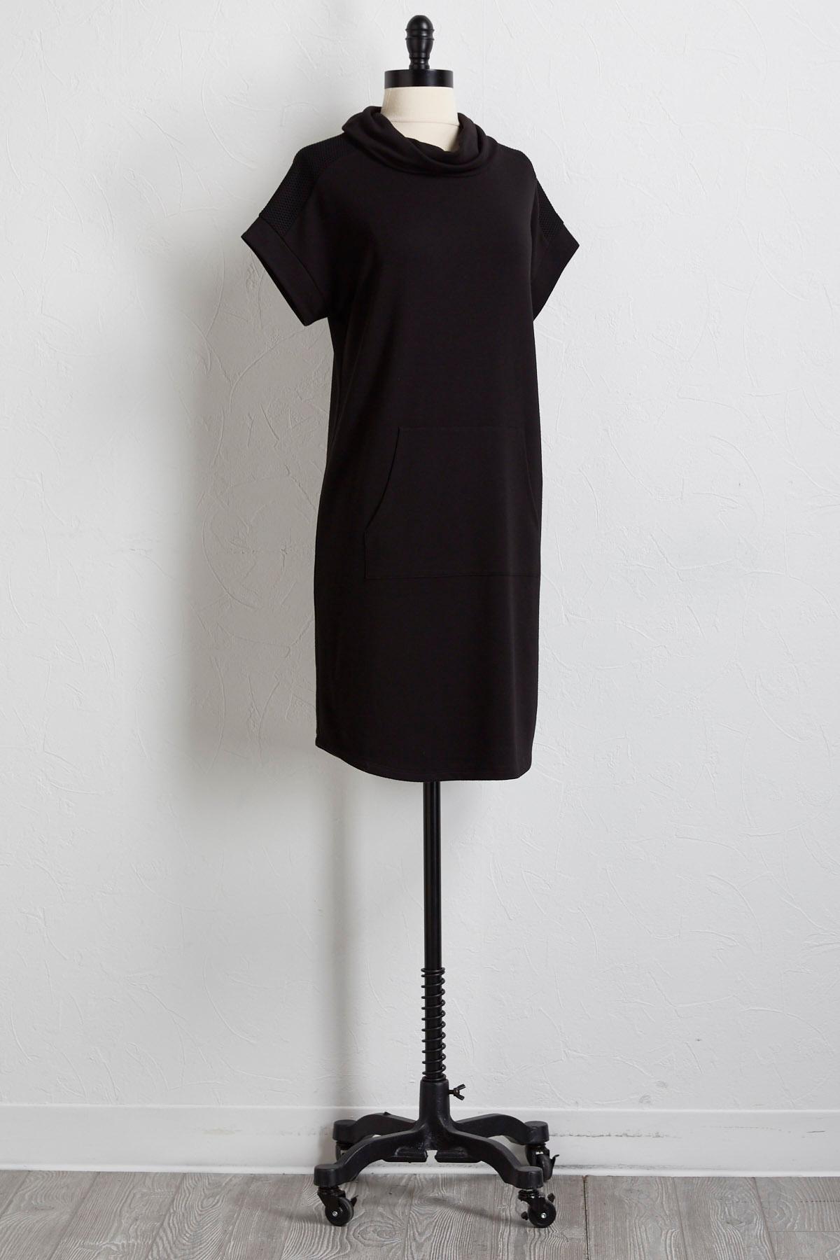 Mesh Trim Athleisure Dress
