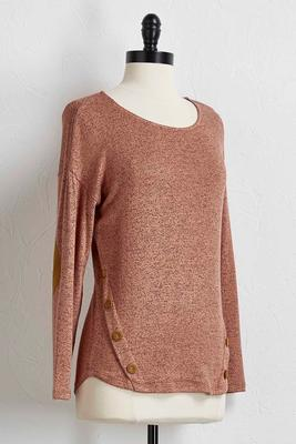 elbow patch hacci tunic