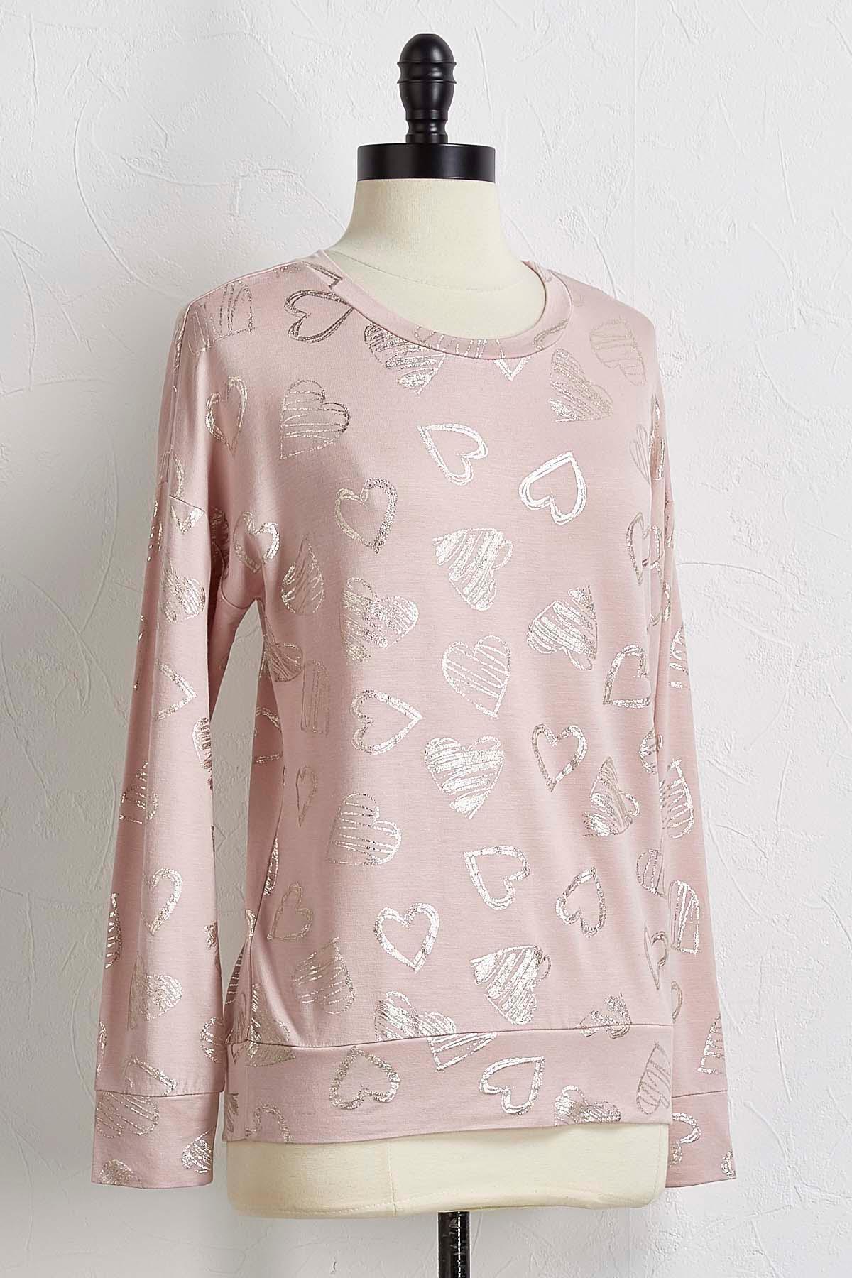 Foiled Heart Sweatshirt
