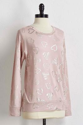 foiled heart sweatshirt