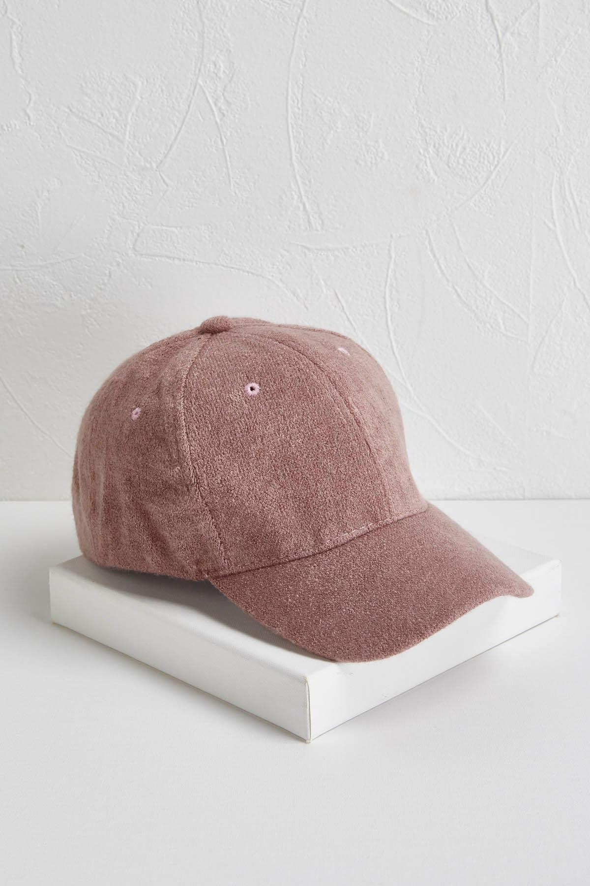 Fuzzy Knit Baseball Hat