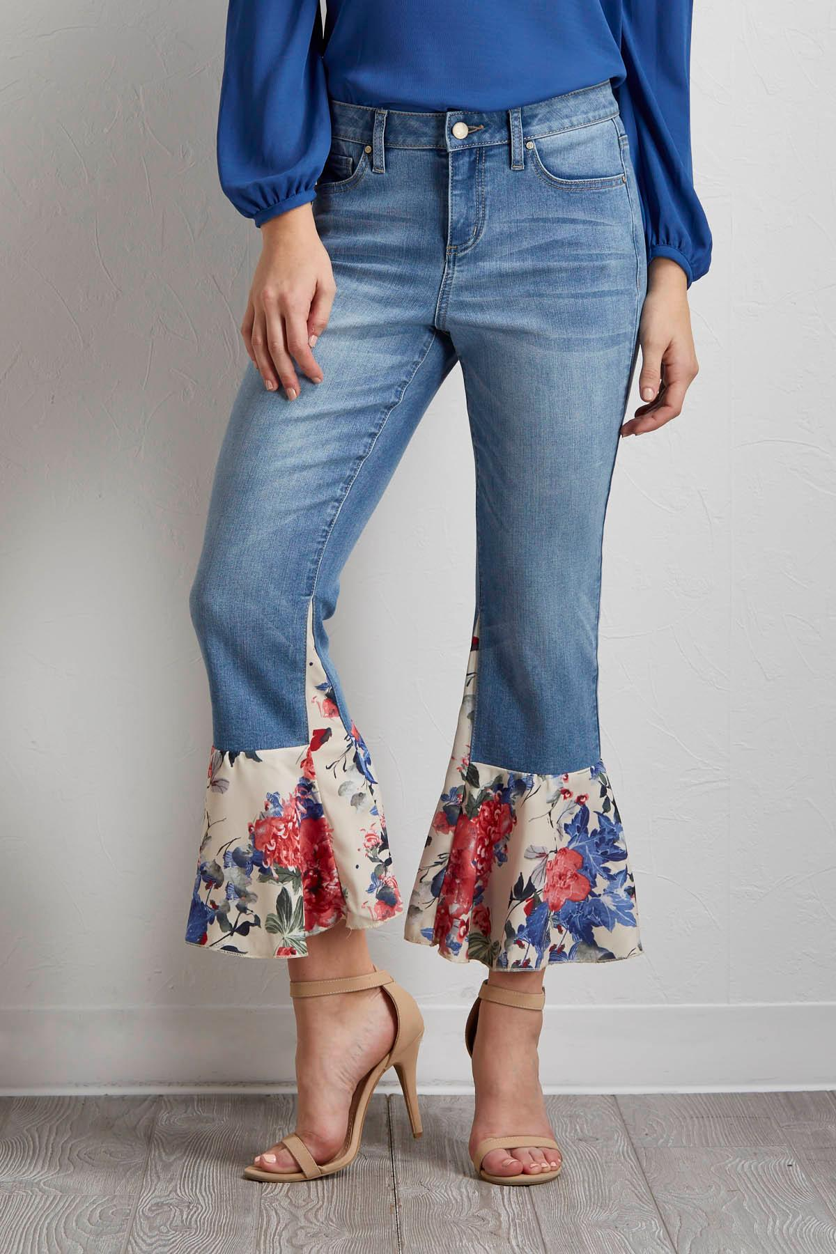 Floral Flare Jeans