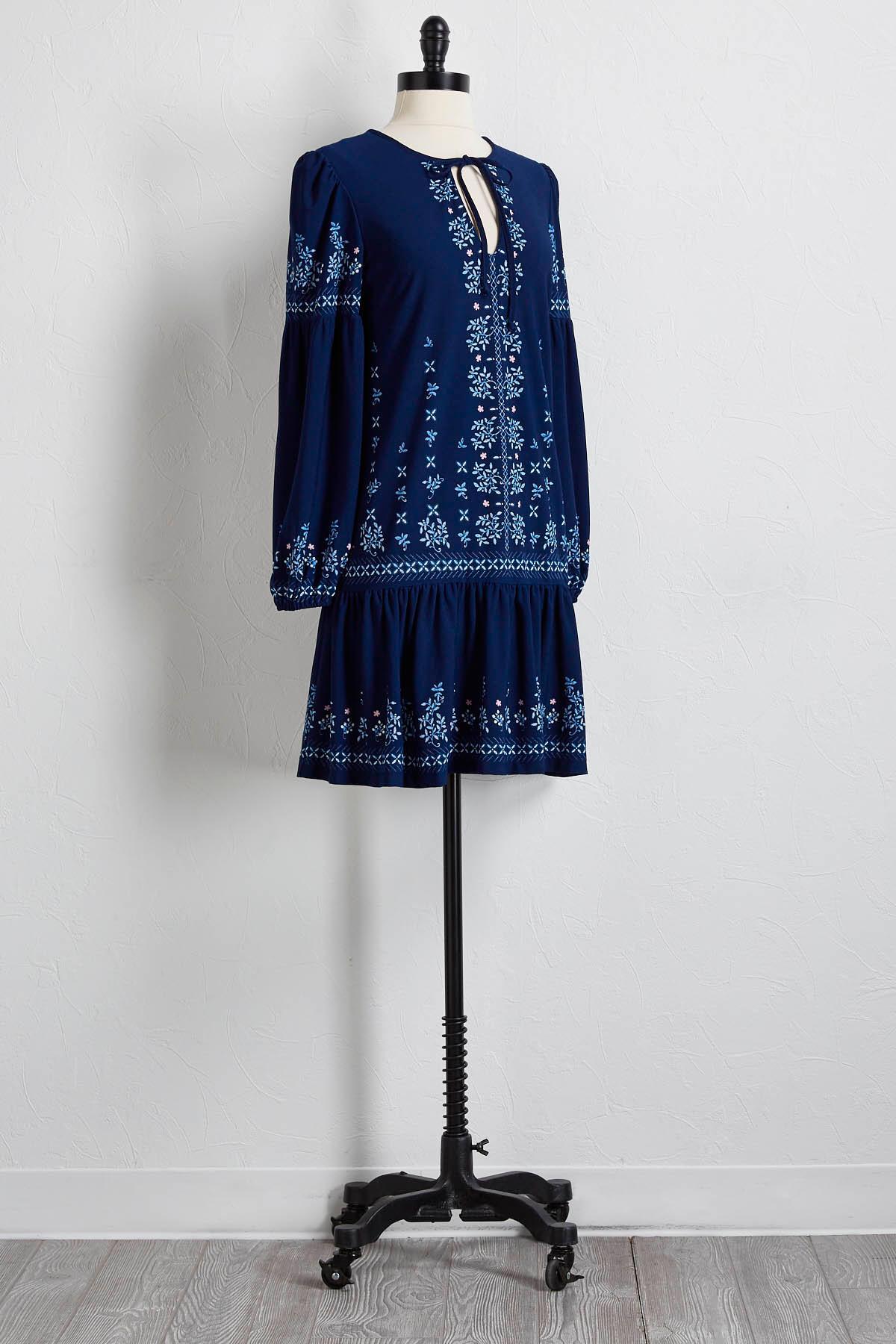 Floral Tie Babydoll Dress