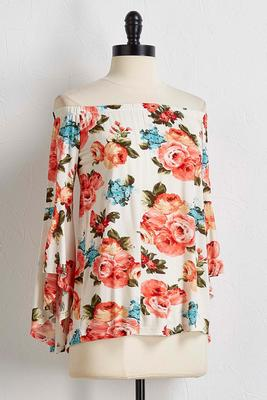 spring bloom off the shoulder top