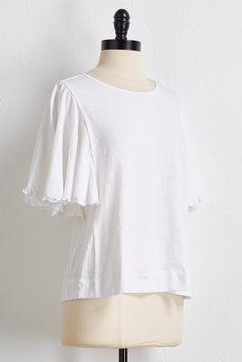 slub flutter sleeve top