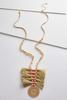 Tasseled Thread Disk Necklace