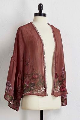 floral chiffon cardigan