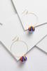 Thread Wrapped Bauble Hoops
