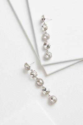 linear cushion cut earrings s
