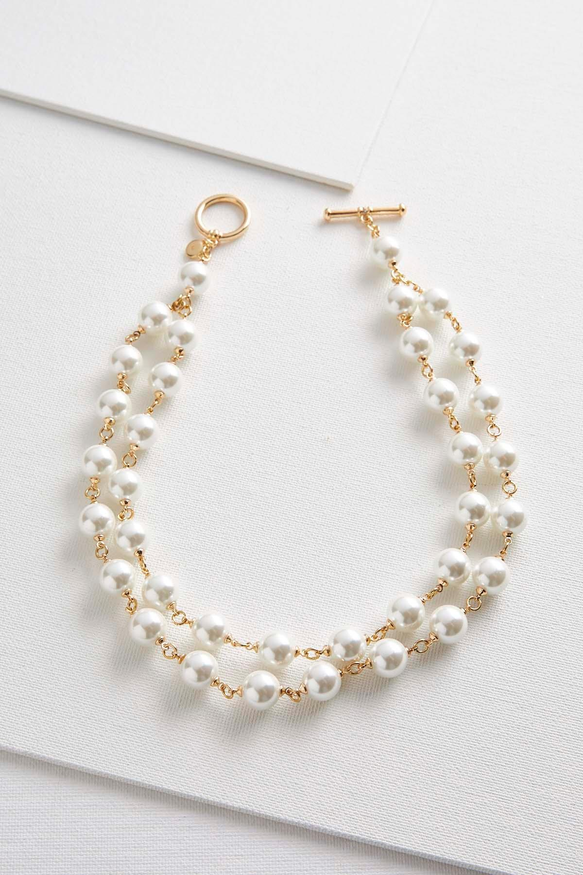 fwp gold clasp with freshwater round white products jewellery necklace pearl