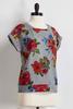 Floral Cuffed Sleeve Sweatshirt