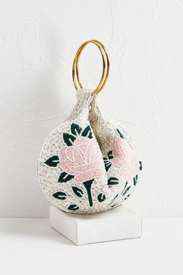 rose beaded fortune cookie bag
