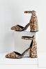 Faux Suede Ankle Strap Heels
