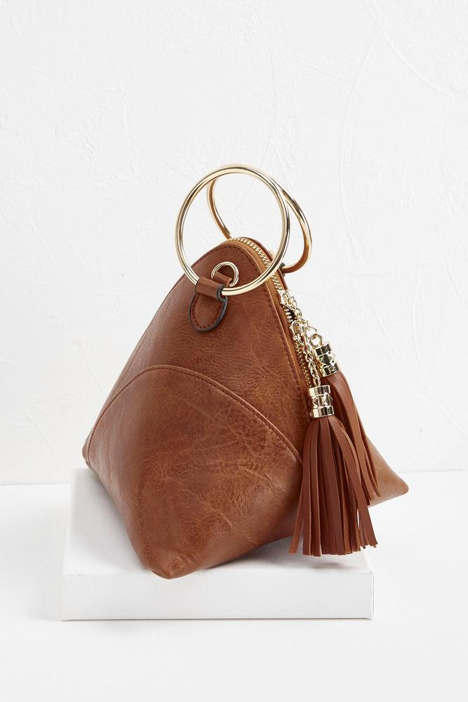 tasseled fortune cookie clutch s