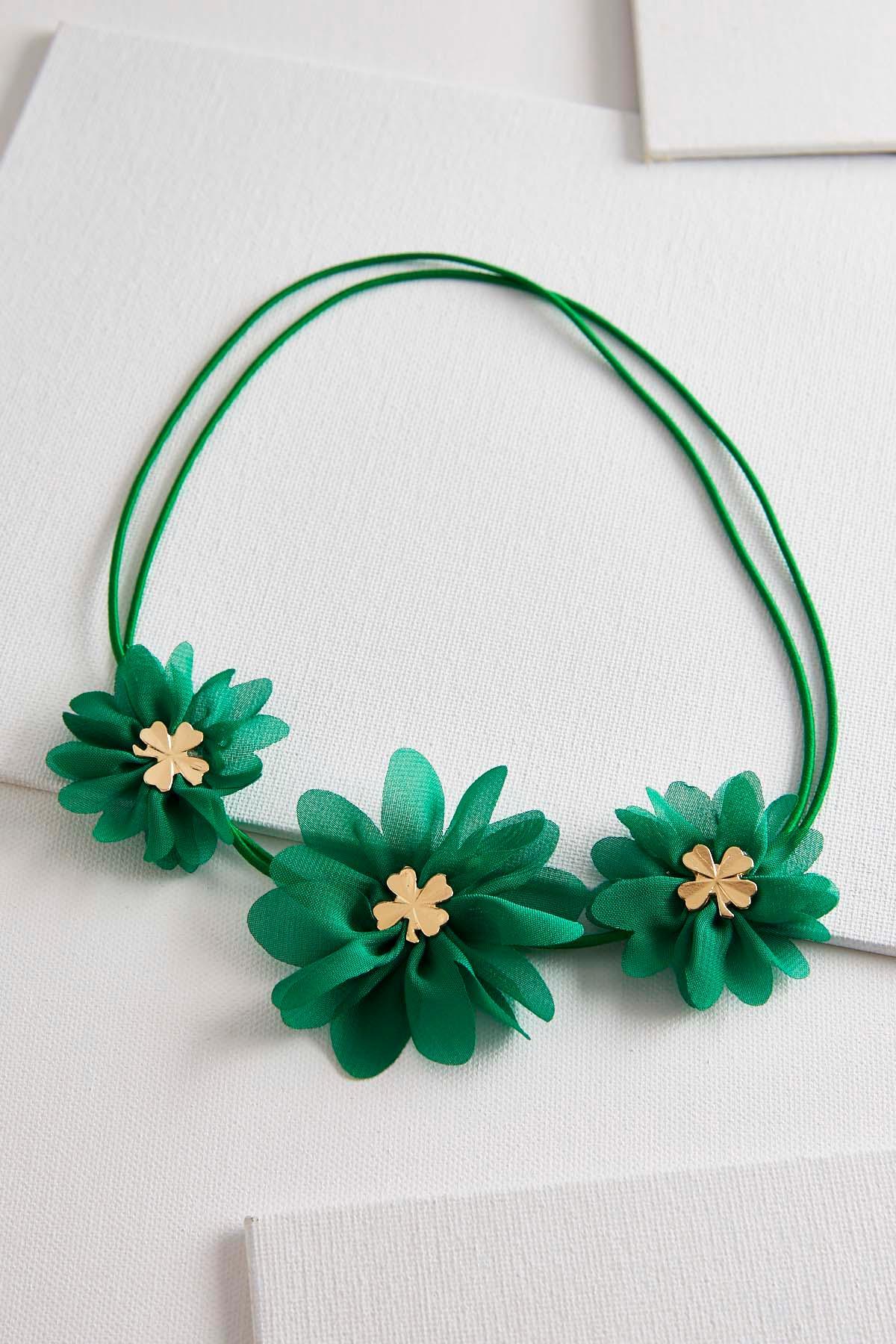 floral clover elastic headband s