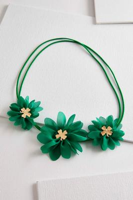 floral clover elastic headband
