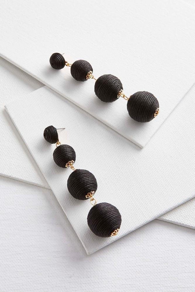 thread ball dangle earrings s