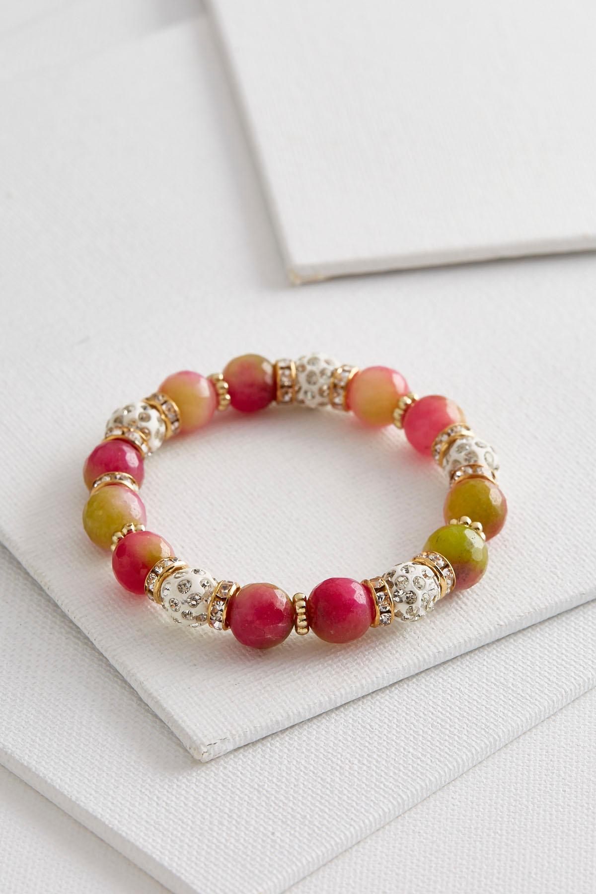 Ombre Glass Stretch Bracelet
