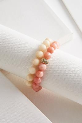 glass bead stretch bracelet set