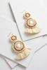 Fabric Back Tassel Earrings