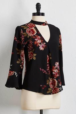 cutout floral top