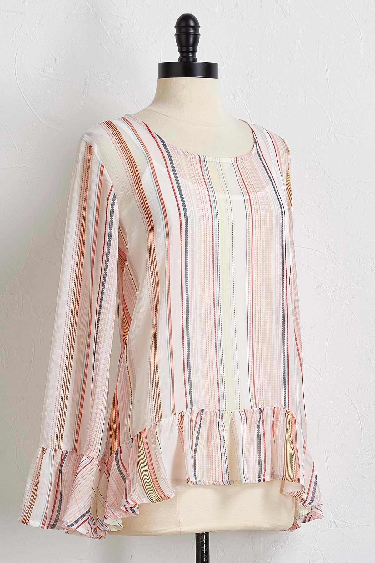 Layered Multi- Striped Top