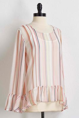 layered multi-striped top