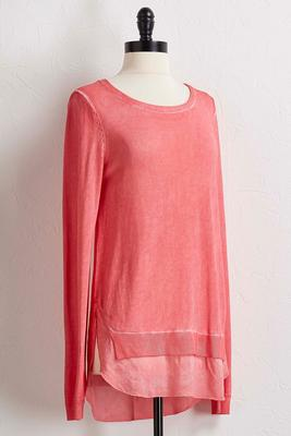 mineral wash tunic sweater
