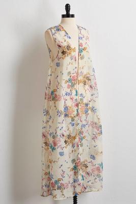 floral duster vest