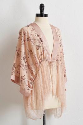 tie-front floral lace top