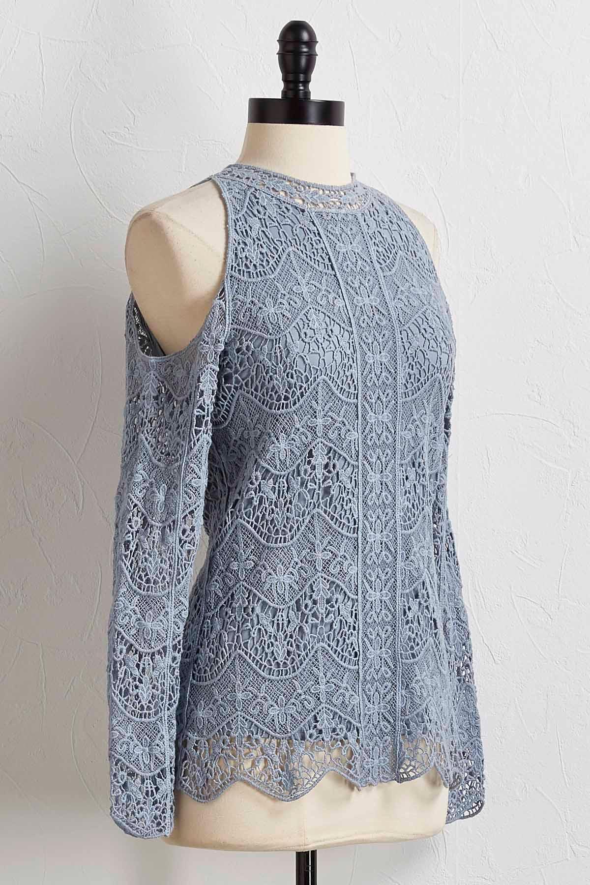 Crochet Bare Shoulder Top