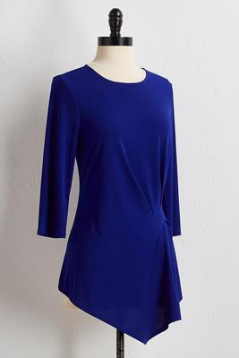 asymmetrical pleated tunic