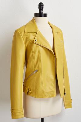 sunshine faux leather jacket