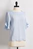 Ruffled Sleeve Gauze Top