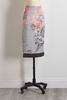 Floral Gingham Print Skirt