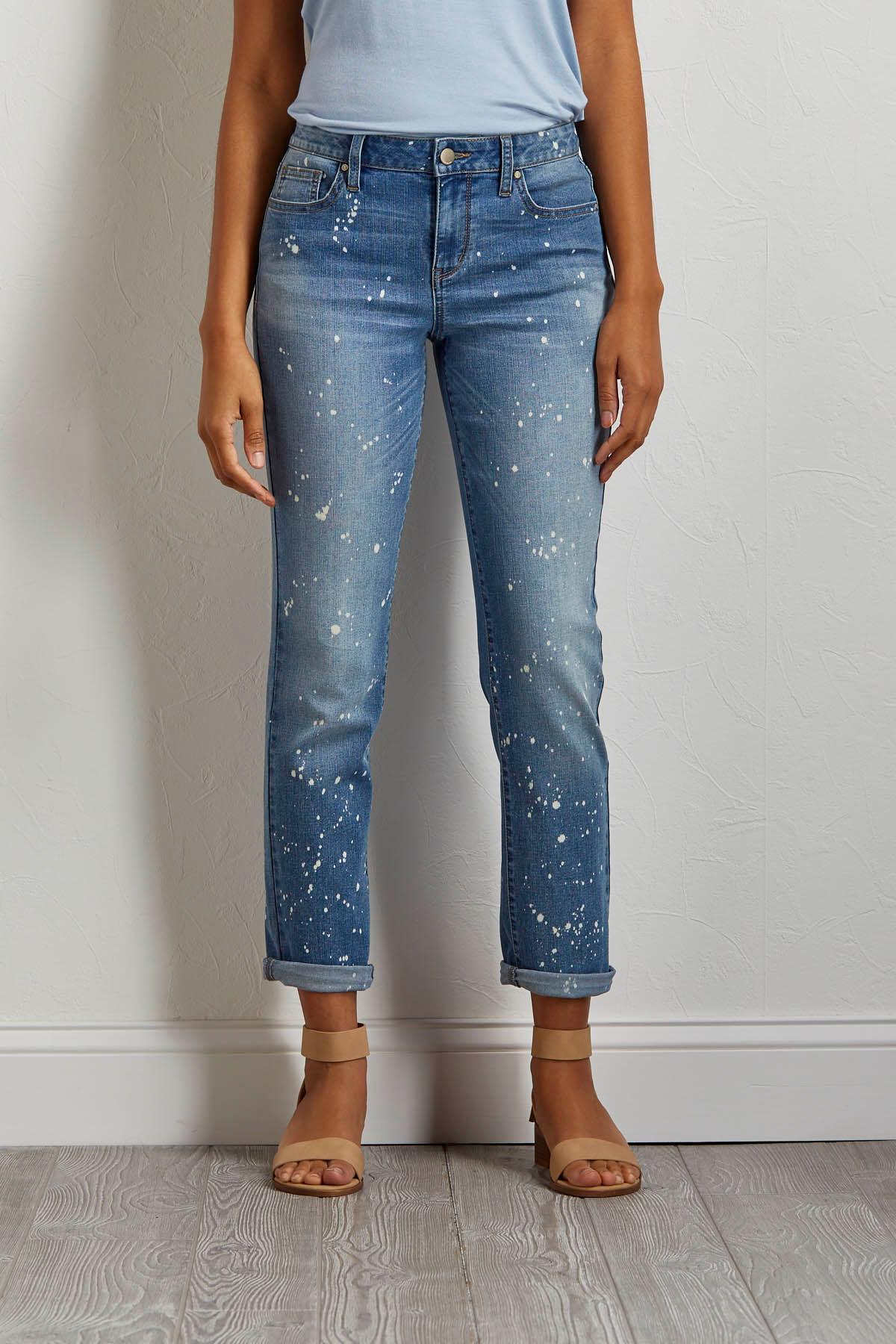 Acid Wash Paint Splatter Jeans