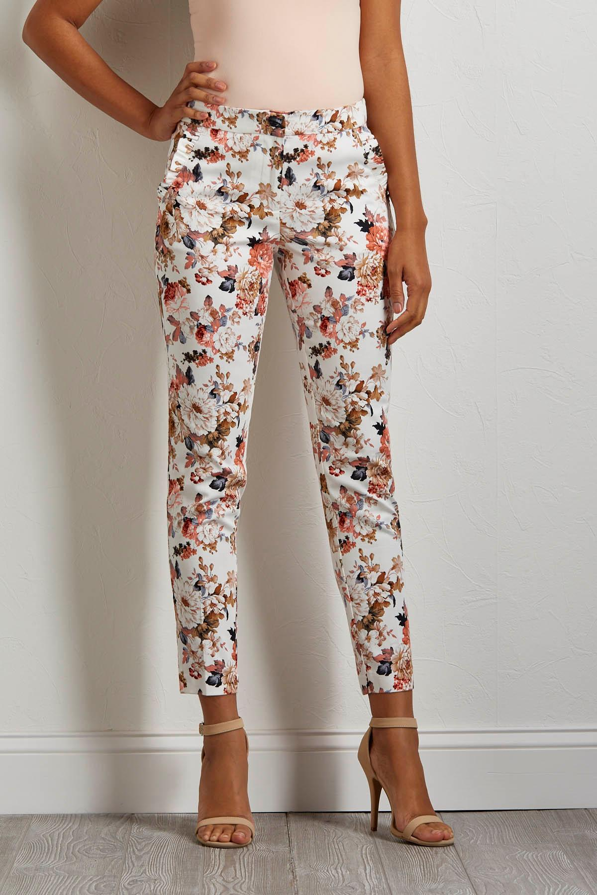 Floral Cropped Pants