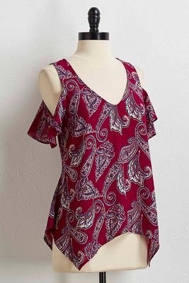 paisley bare shoulder top