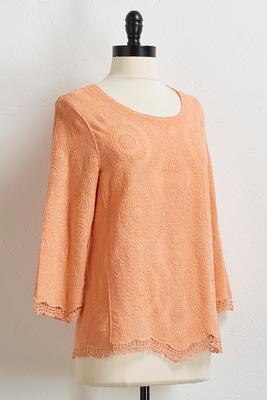 crochet mineral wash top
