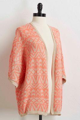 aztec kimono sweater