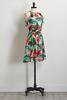 Tropical Floral Fit And Flare Dress