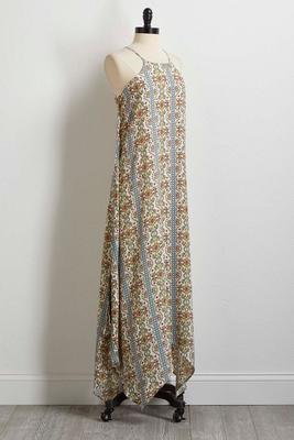 vine floral maxi dress