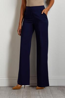 ruffled pocket wide leg pants