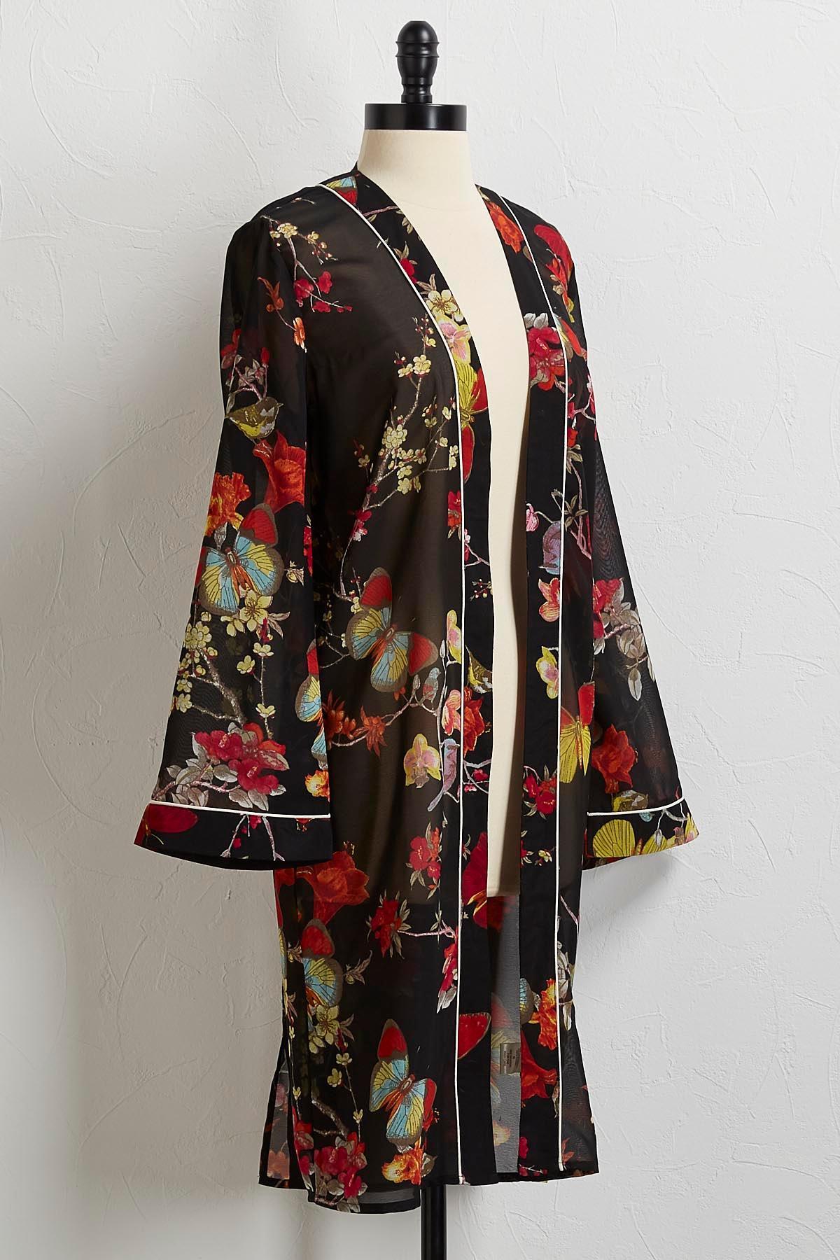 Nature Floral Kimono