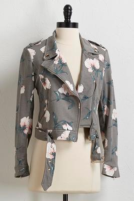 floral moto jacket