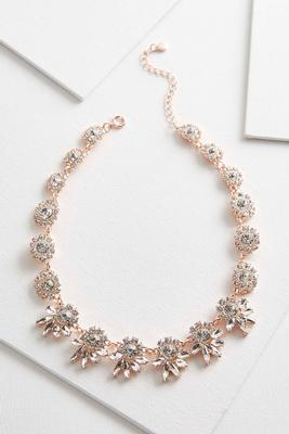 rhinestone statement bib necklace