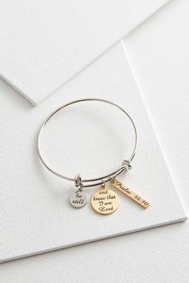 be still charm bracelet