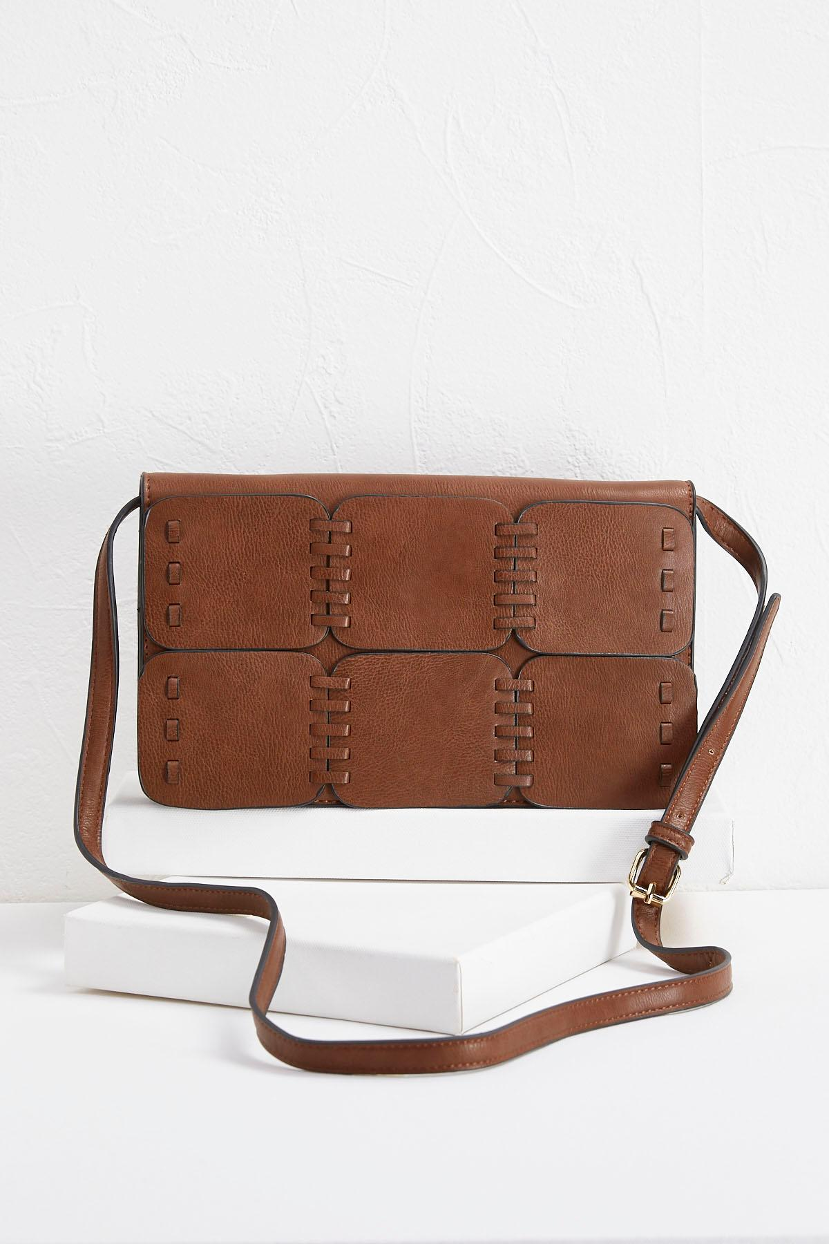 Stitched Panel Crossbody Bag